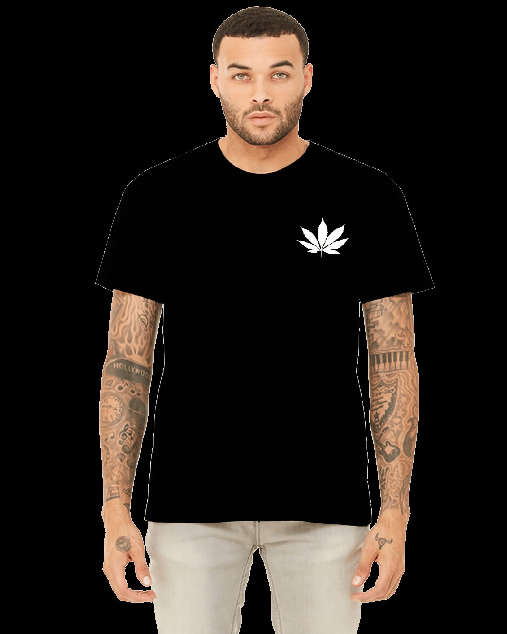Cannabis Leaf-Blk